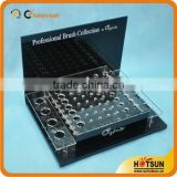 fashionable high clear acrylic holes display box with black bottom wholesale