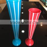 Reusable high quality Advertising Logo novelty plastic beer cup yard glass double colors