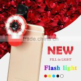 Universal Clip-On Selfie LED Light With Colored Filters And Camera Lens Kit For Smart Phones Tablets