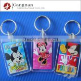 promotion clear acrylic keychains wholesale