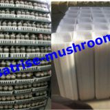 Stackable plastic agricultural crate mushroom basket