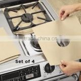 nonstick aluminum foil gas burner guards and gas stove liners hob protector PTFE coating on both side