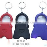 Hot selling multi-function keychain with tape measure and magnifier and LED flashlight
