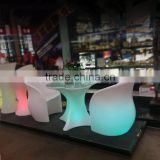 Interior decorator flower lounge chair with led light and IR remote control