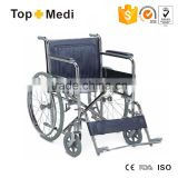 TOPMEDI the manufacturer of folding chromed manual wheelchair with swing away footrest