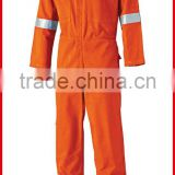Sample provide men's safety orange coveralls with reflective tape