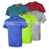 wholesale che o-neck men's tee, short sleeve solid color plain breathable t-shirts, casual dry fit t-shirt