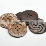 High Quality Scrapbooking 4 Holes Round Mixed 6cm Wood Sewing Buttons