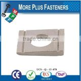 Made in Taiwan DIN 434 Square taper washers for U Sections Zinc Plated