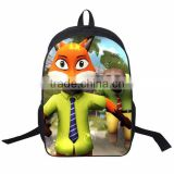 Latest Zootopia school bag Popular Movie school backpacks Wholesale Lovely school bag for kids