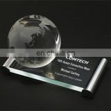 2017 New Arrival!!! Corporate glass globe award corporate plaques