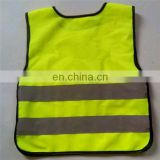 Shining bright yellow safety vest for children