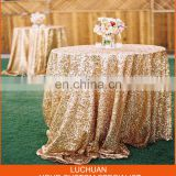 Good Quality Banquet Gold Round Sequin wedding party Tablecloth