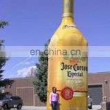 Giant Promotional Inflatable Champagne Liquor Bottle For Sale