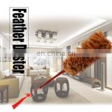 rattan Feather fluffy duster goood quality chicken feather dusters