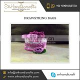 Small Drawstring Pouch Shaped Bag Available for Sale