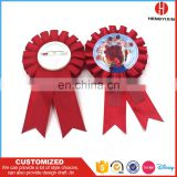 Factory profession supplier happy birthday party accessories award ribbon rosette,ribbon rosettes badge