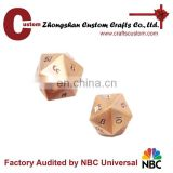 Custom 20sides antique metal small dice manufacturers