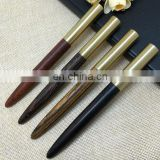 Natural wood brass pen Sandalwood /Wenge/scentedwood/Zebra-stripe wood Brass pen