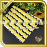Wholesale hotfix yellow spurs rhinestone iron on transfer resin sheets FHRM-007