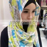 Popular muslim long wrap scarf,islamic hijab chiffon 180*70cm shawl 2016