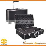 Professional Series Metal Frame Customized Large Hard Case with Locks, rolling photography equipment case