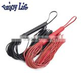 CW018 Hand- made AAA Genuine Leather Whip Erotic Toy, 68cm Sexy Bondage Whip Punishment Salve Bdsm Games Sex Toys