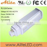 High power 13w led pl lamp/ g24 led lamp / plc 4 pin led g24 lamp for replace traditional plc