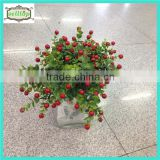 37cm 7branches eucalyptus with cherry artificial ornamental plants