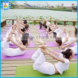 anti-slip moisture NBR fitness yoga mat with carry strap for gymnastic fitness