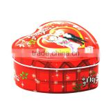 cute heart shape tin box for candies,gift box for kids,wedding candy cans with heart shape
