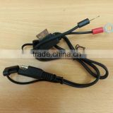 SAE cable to ring terminal UL SPT-2 18AWG cable 500MM with SAE plug and molding FUSE holde power cable