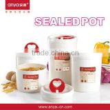 D556 round plastic storage tank milk canister canister set