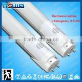 Emergency T8 18W rechargeable led light tube with internal battery backup t8 led tube houding