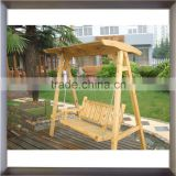hot sale high quality wooden swing beach chair with canopy