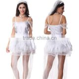 Halloween party ghost bride sexy black devil vampire couple cosplay costume