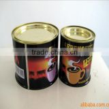 Chemical alcohol tin container, open top tin can