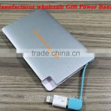 Wholesales promotional gift 2500mAh Ultra Slim Metal Business Card Power Bank Portable Power Bank For Mobile Phone