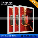 Edgelight AF19 outdoor led light packaging box Slim Aluminous Frame Standing aluminum frame light box For displaying