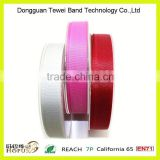 1' three colors double faced satin ribbon for cloths