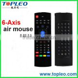 Wholsale Mini Wireless Keyboard Air Mouse Remote MX3 Built-in 6 Axis 2.4ghz Remote Control