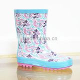 lovely fish printed kids rain boots,antiskid safe rubber boots for children,high quality rain shoes