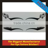 Black Eyeliner Eye Temporary Tattoo Makeup Body Art Ink Sticker