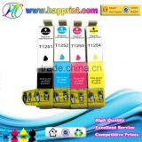 Factory wholesale the compatible ink cartridge for Epson T1251 T1252 T1253 T1254 refillable ink cartridges for Epson printer
