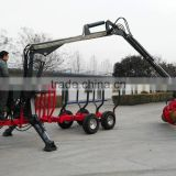 Hot sale in America!! ATV/ Tractor tow log trailer with crane diesel/gasoline engine