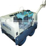 walk behind road roller WKR700 Japanese hydraulic pump and motor double drum handheld for sale