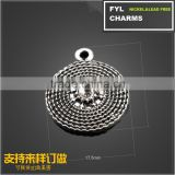 YP2900 Factory outlets] Tibetan jewelry Parts Factory Danyang Alloy Pendant vintage braided round