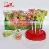 funny animal various shape gummy lollipop candy                                                                         Quality Choice