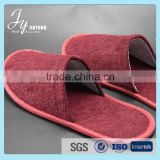 Non-Woven disposable hotel slipper customize embroidery slippers
