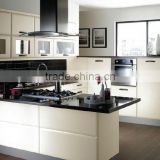 Modern furniture lacquered aluminum alloy base kitchen cabinet planned cabinet of kitchen